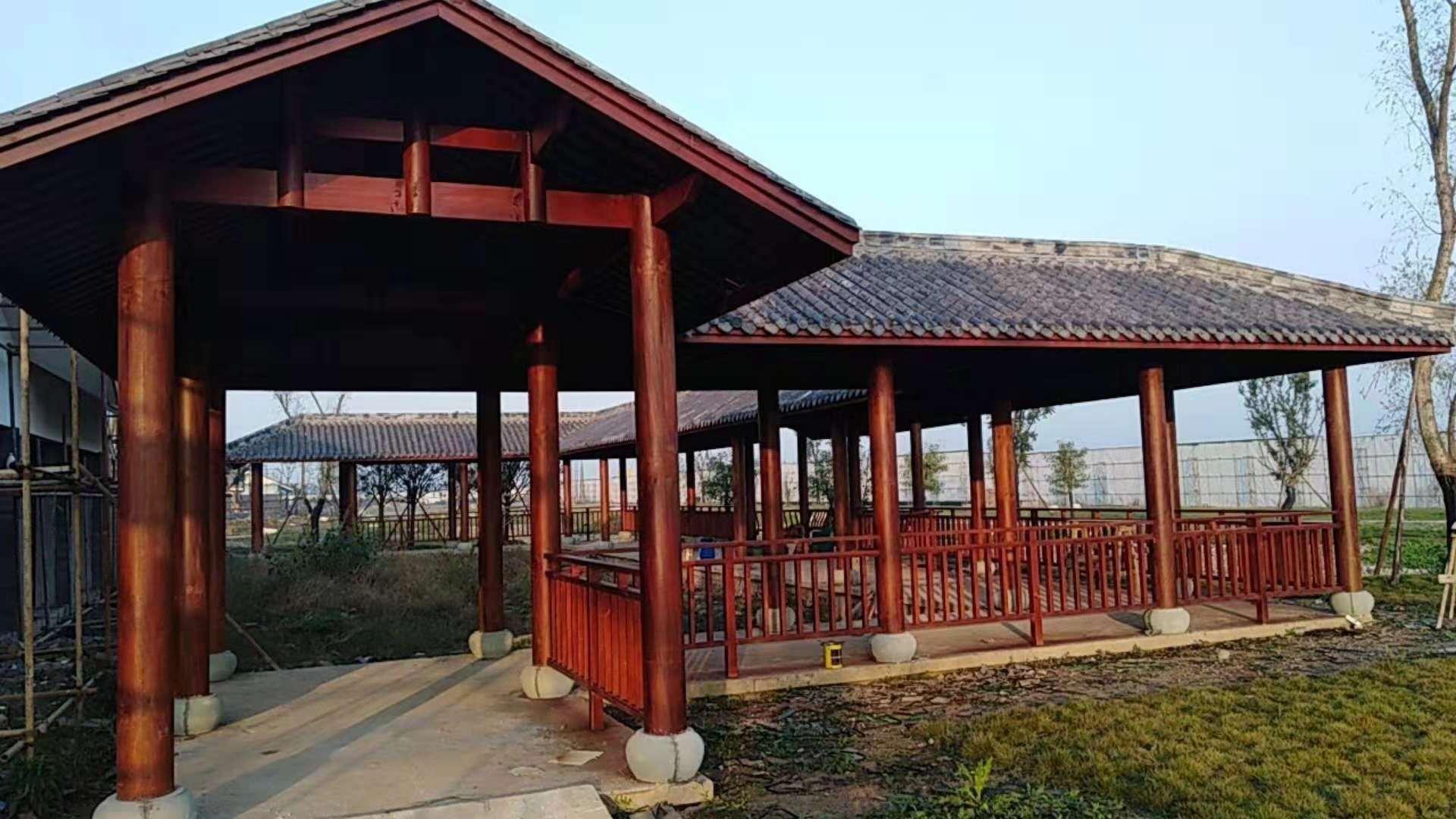 木结构长廊