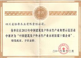2013年木材防腐10强