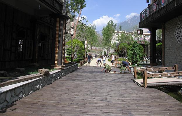 四川汶川商业街木结构