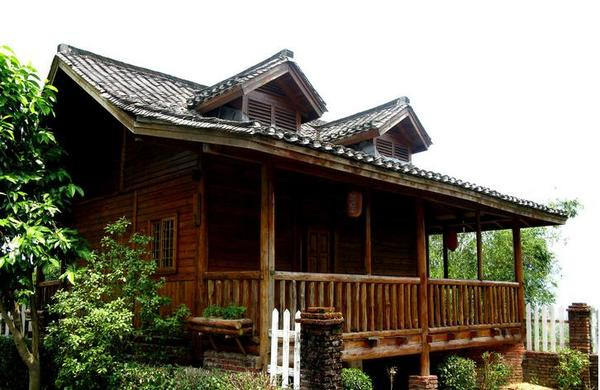 浙江二层仿古木结构建筑图片